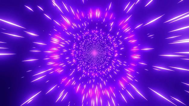 4k uhd 우주 은하 웜홀 3d 일러스트를 변경하는 분홍색 붉은 색