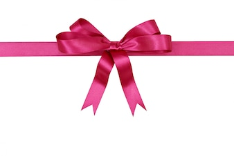 Pink ribbon for gift