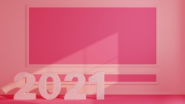 ピンクの数字のピンクの部屋