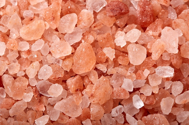 Pink salt from the himalayas mountains