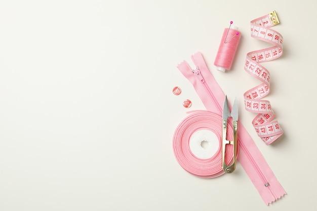 Pink sewing supplies