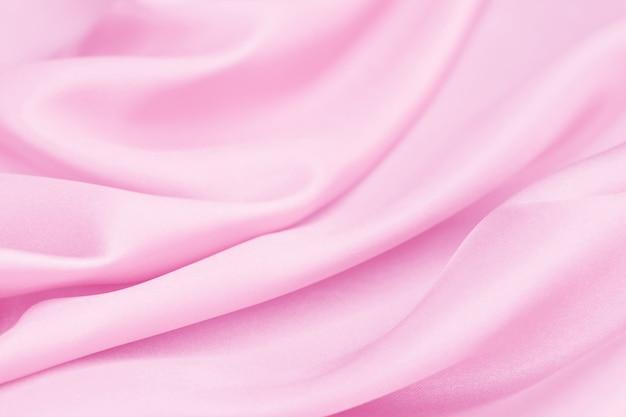 Pink silk texture, background, luxurious satin