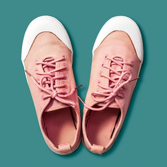 Pink sneaker shoes