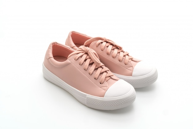 Pink sneakers shoes