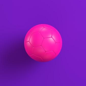 Pink soccer ball on violet