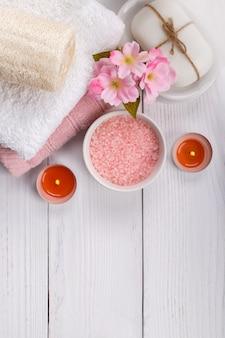 Pink spa setting