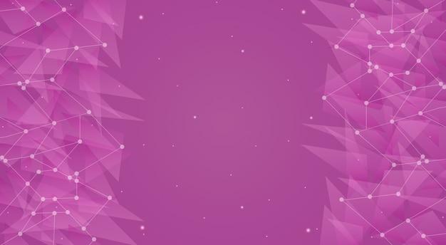 핑크 공간 기술 배경 3d