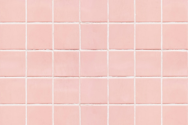 Pink square tiled texture background