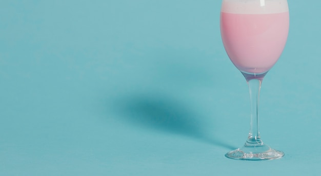Pink strawberry milk