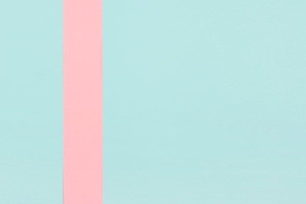 Pink stripe over the mint background