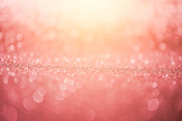 Pink sunny abstract bokeh background