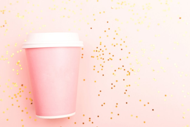 Pink take out cup