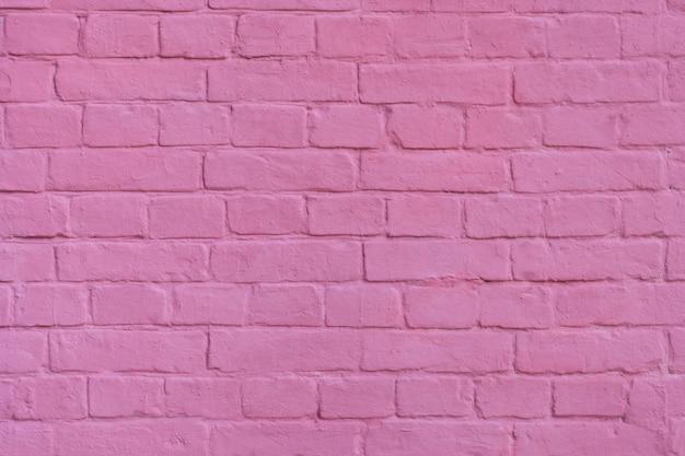 핑크 질감 된 벽돌 벽