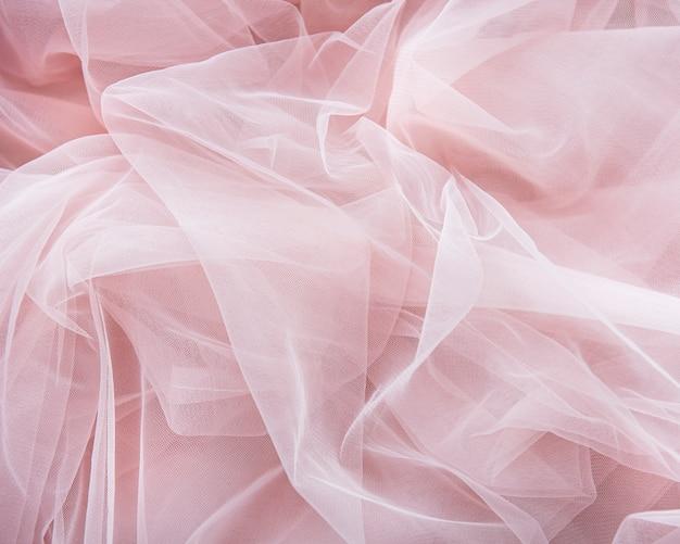 Розовый тюль