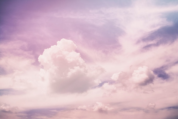 Pink violet unreal abstract clouds
