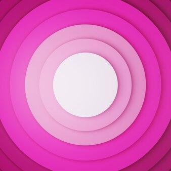 ピンクの壁紙。サークルスタック。 3dレンダリング