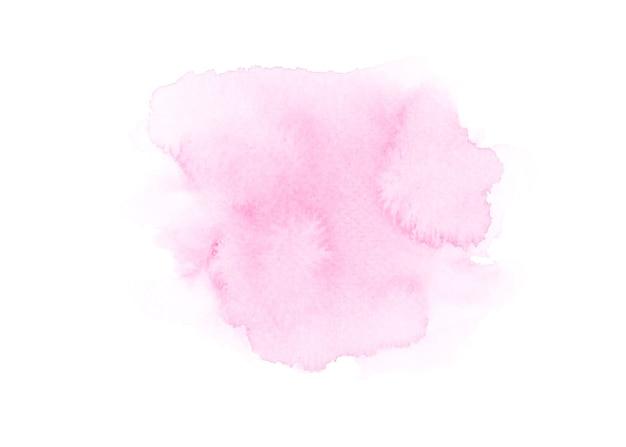 Розовая акварель на белой бумаге