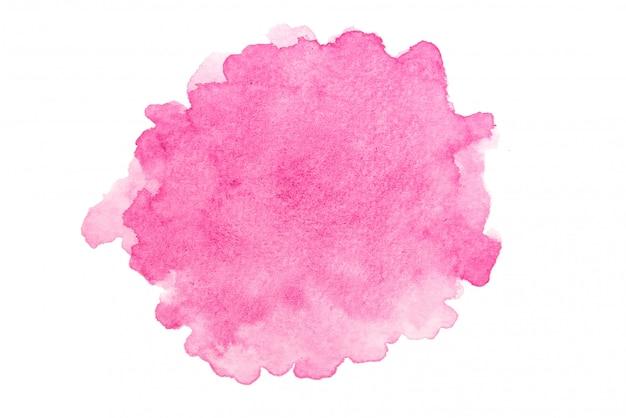 흰 벽에 핑크 수채화입니다.