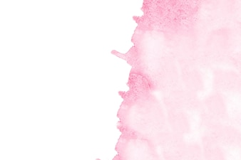 Pink watercolor stain in a corner background