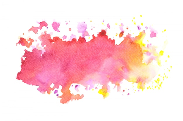 Pink watercolor stain paint stroke background