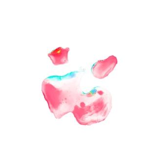 紙にピンクの水彩汚れ
