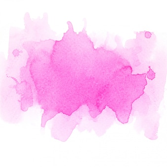 Pink watercolor.