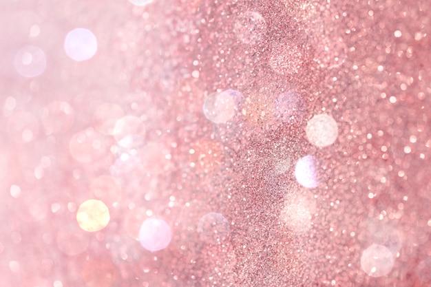 Pink white glitter gradient bokeh background