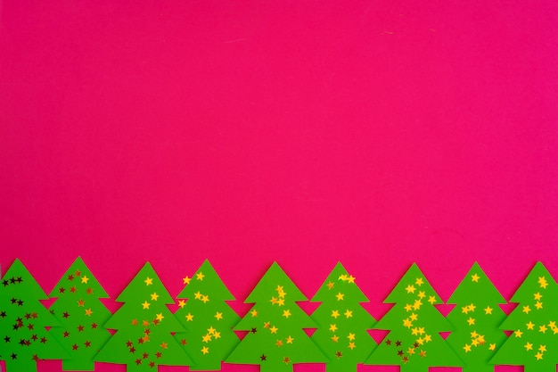 Pink  with christmas holiday decorations pattern