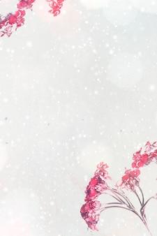 Copyspace와 핑크 톱풀 꽃
