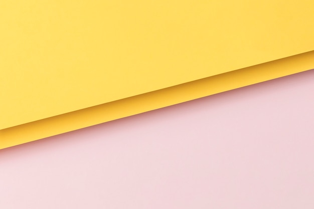 Pink and yellow cupboards