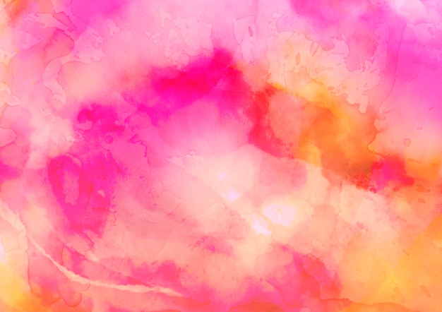 Pink and yellow watercolor texture background