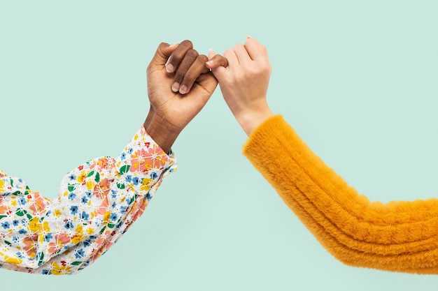 Pinky promise hands gesture