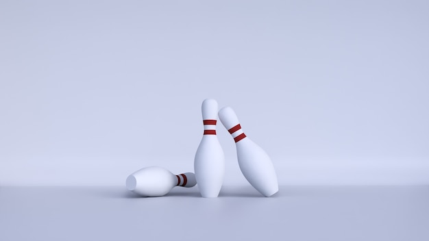 Pins bowling with background white