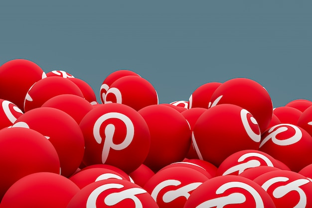 Pinterest логотип смайлики 3d визуализации