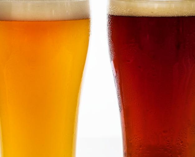 Пинты разливного пива макросъемка