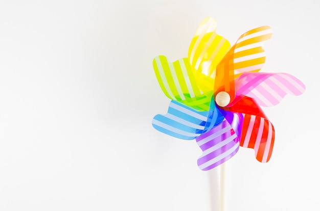 Pinwheel with the rainbow colors