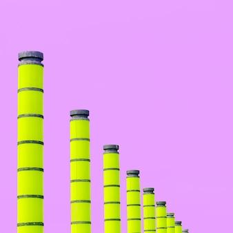 パイプ工場。最小限の都市デザイン