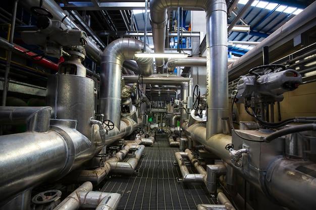 Изоляция трубопроводов и клапанов внутри диспетчерской электростанций