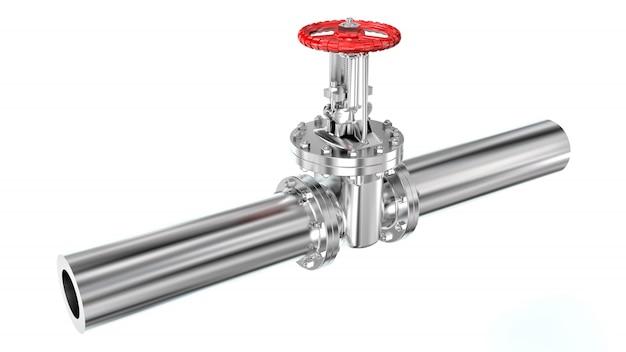 Трубопровод с клапаном