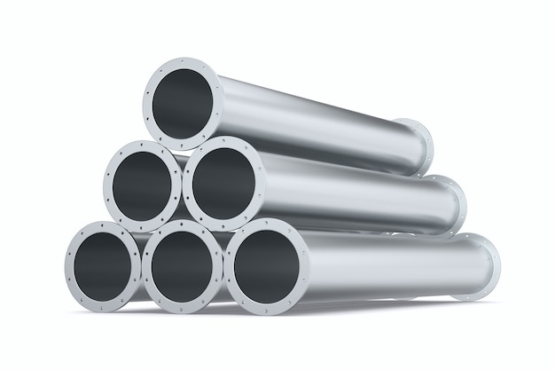 Трубы на белой предпосылке. изолированная 3-я иллюстрация