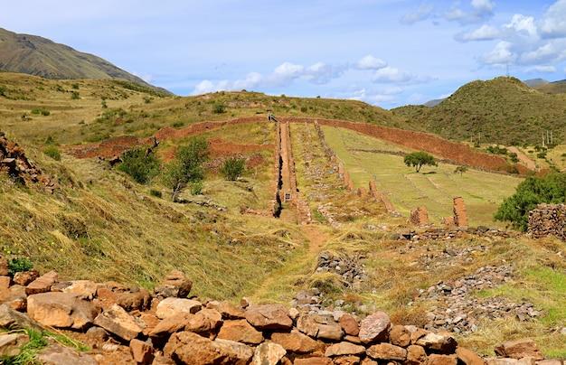 Piquillacta, a massive archaeological site of the wari culture in cusco region, peru