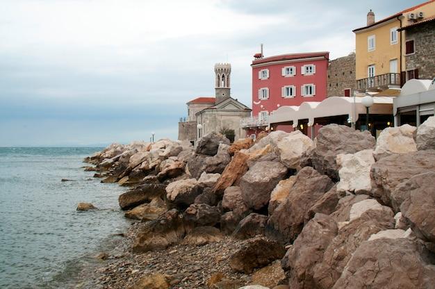 피 란 도시 슬로베니아 아드리아 해 해안 및 건축