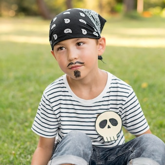 소년 용 pirat 의상