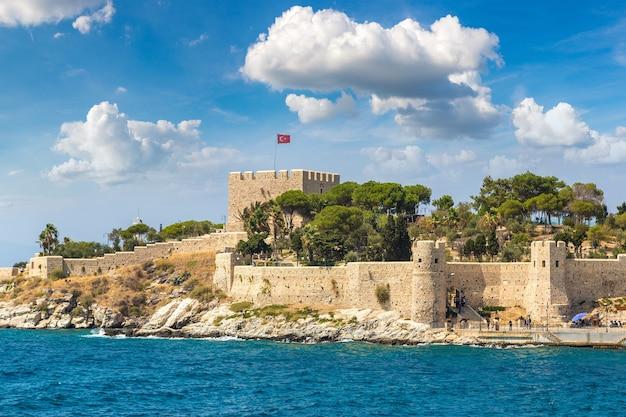 Pirate castle on pigeon island in kusadasi