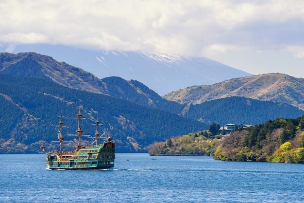 Pirate sightseeing ship at ashi lake, hakone