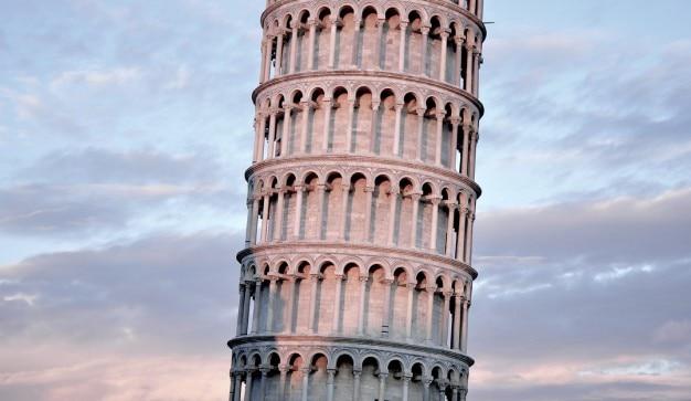 Pisa tower with beautiful sky