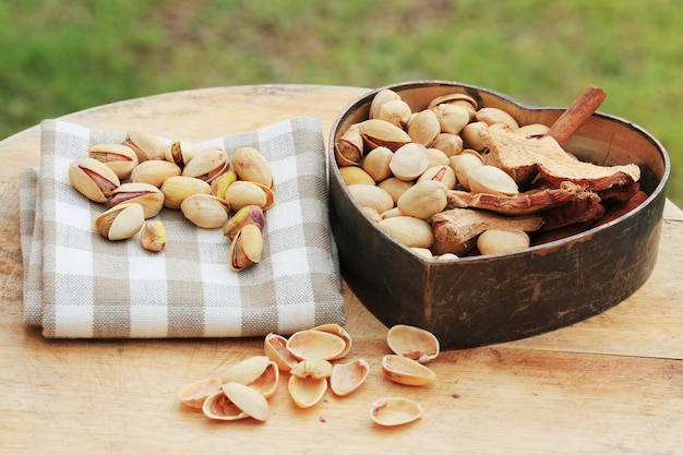 Pistachio nut and chinese herb