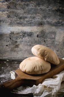 Pita bread on concrete