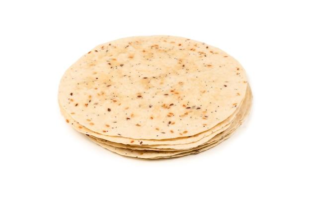 흰색 절연 씨 피타 빵