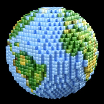 Pixelated earth